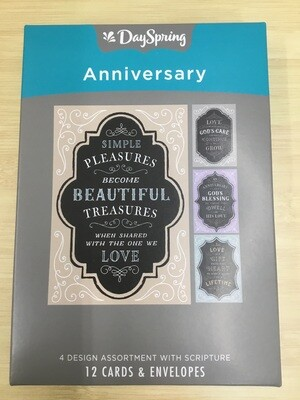 Anniversary Chalkboard Boxed Cards
