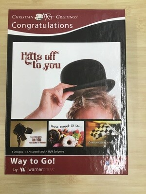 Hats off to you Congratulations cards