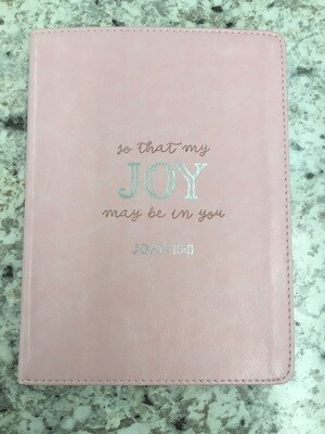 That Joy May Be In You Pink Journal