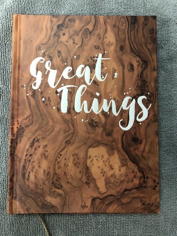 Great Things Wood Grain Journal