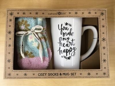 Cozy sock and mug set