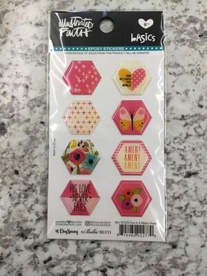 One In A Melon Epoxy Stickers