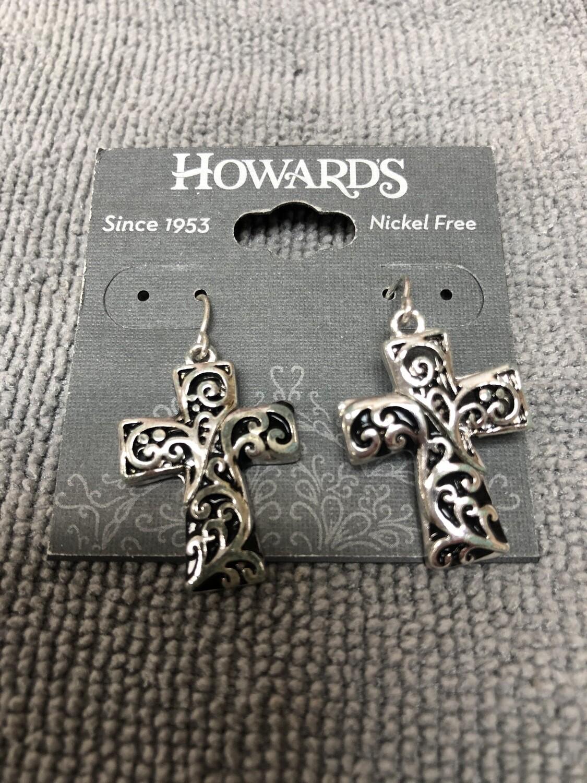Designer Cross Earrings