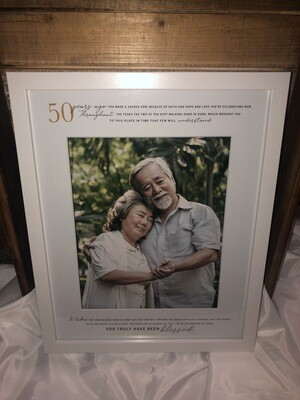 50th Wedding Anniversary Large Frame