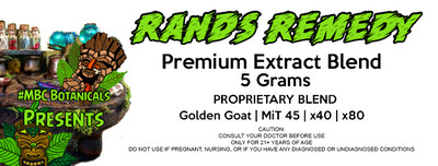 Rands Remedy Extract Blend - 5 Grams