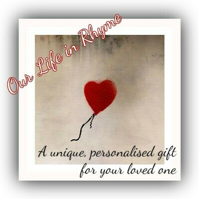 Our Life in Rhyme - Unique Personalised Gift