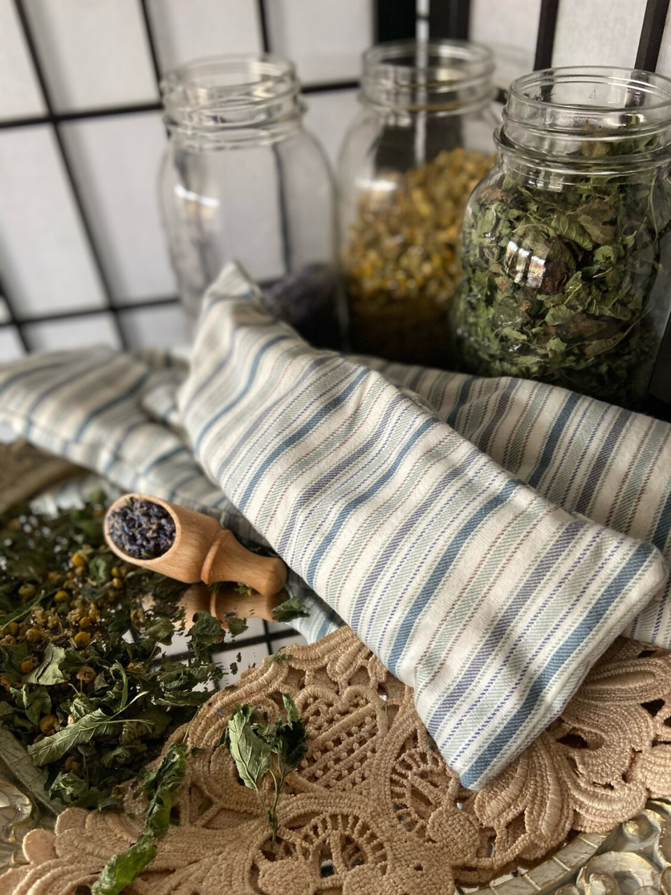 Soothing Lemon Balm/lavender/chamomile Rice Sachet Medium