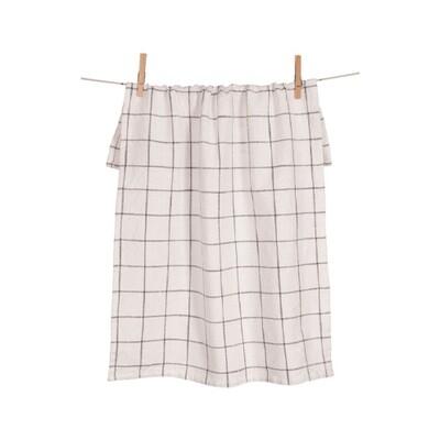 KAF Home Kitchen Towel Pewter Grid