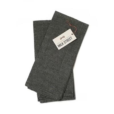 Milk Street Deluxe Linen Cotton Towel - Gray