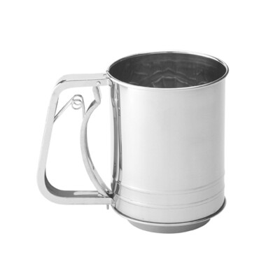 Mrs Anderson's 3 Cup Stainless Steel Squeeze Flour Sifter