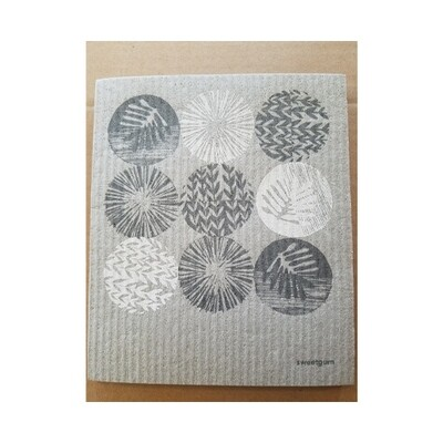 Compostable Dishcloth - Circular Abstract Plants