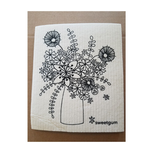 Compostable Dishcloth - Flowers in Vase