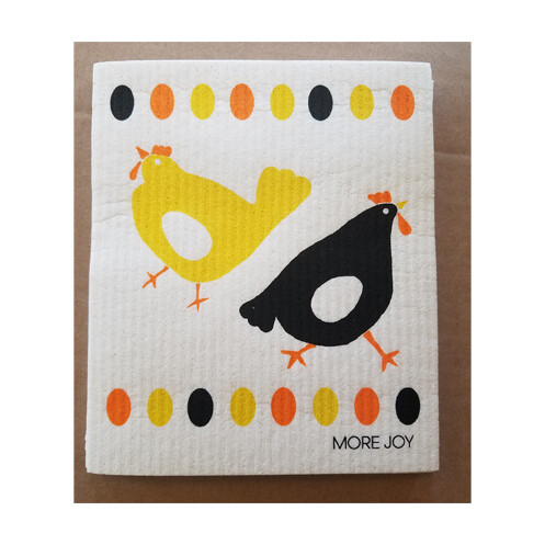 Compostable Dish Cloth - Chickens & Eggs