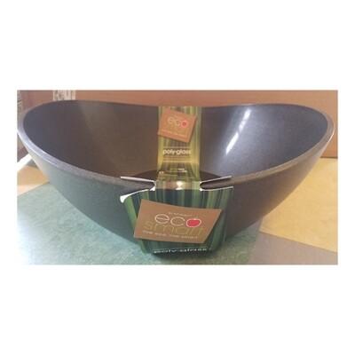 Eco-Smart Poly-Glass Black Serving Bowl