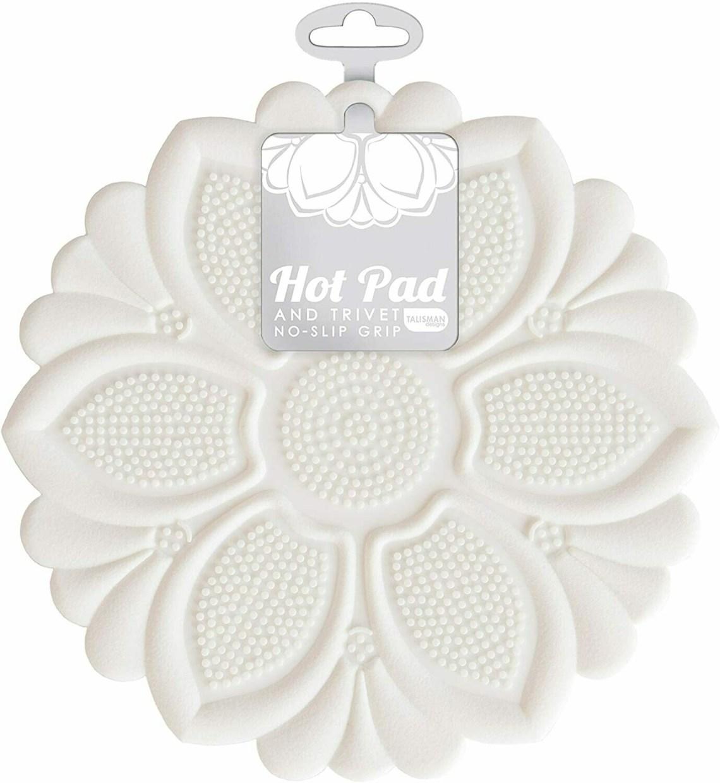 Talisman Hot Pad & Trivet - White