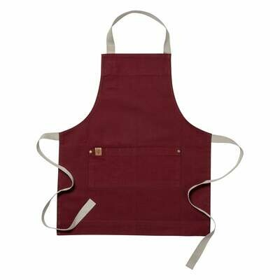 KAF Home Ayesha Apron for Kids - Oxblood