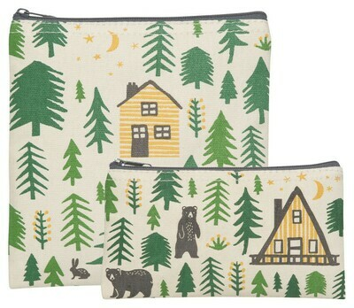 Now Designs Set of 2 Snack Bags - Wild & Free