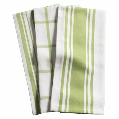 KAF Home Set of 3 Kitchen Towels - Sprout