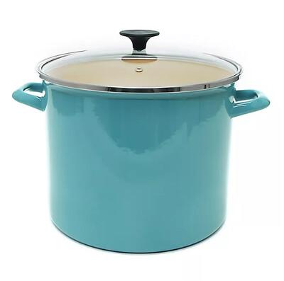 Starfrit 11.6qt Stock Pot with Lid Aqua