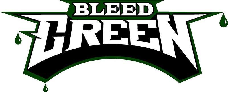 Eagles Bleed Green Sticker