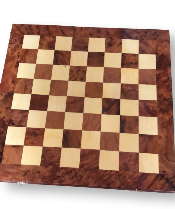 Folding Wooden Chess/Backgammon Set