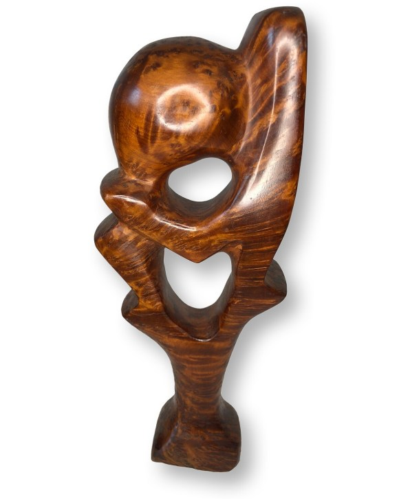 Exotic Thuya Wood Hand-Carved Abstract Figurine