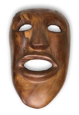 Exotic Thuya Wood Hand-Carved Mask