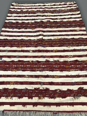 Handwoven Berber Handoura Kilim Rug 218 x 150 cm
