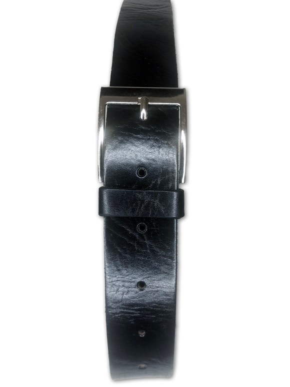 Men's Handmade Moroccan Black Leather Belt