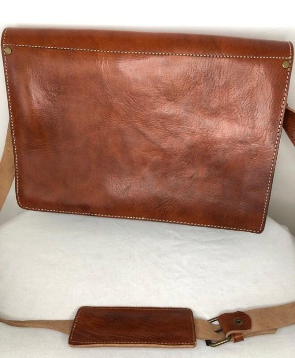 Tan Moroccan Leather Messenger Bag