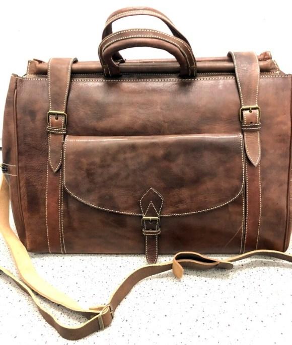 Brown Moroccan Leather Weekend Bag