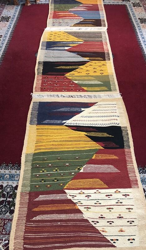 Handwoven Taznakht Berber 3 in 1 Moroccan Rug Runner 319 x 69cm