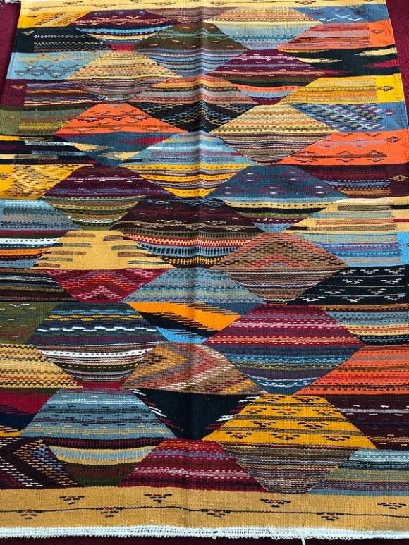Handwoven Taznakht Berber Moroccan Rug 150 x 110cm