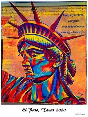 El Paso Statue of Liberty Poster
