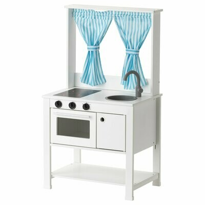 SPISIG PLAY KITCHEN WITH CURTAINS