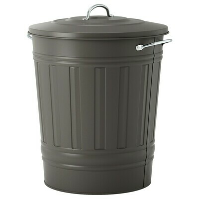 KNODD BIN WITH LID 40L GREY
