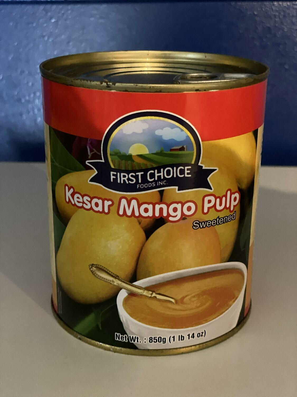First Choice Kesar Mango Pulp 850gm