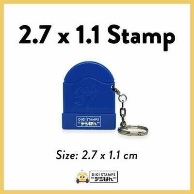 2.7 x 1.1 Custom Stamp