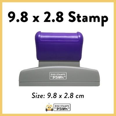 9.8 x 2.8 Custom Stamp
