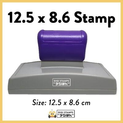 12.5 x 8.6 Custom Stamp