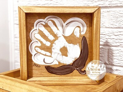 Classic Cotton Handprint on Wood Preorder