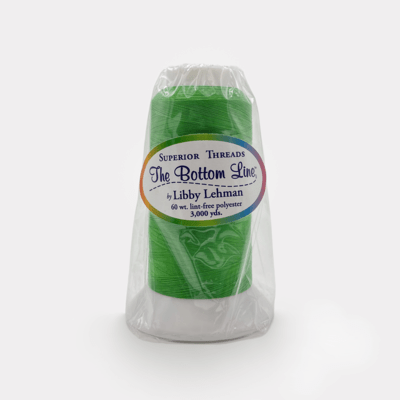 The Bottom Line Quilting Thread #645 Bright Green