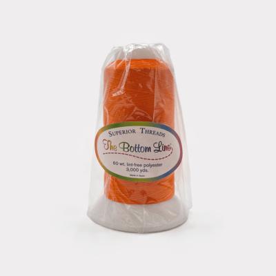 The Bottom Line Quilting Thread #639 Bright Orange