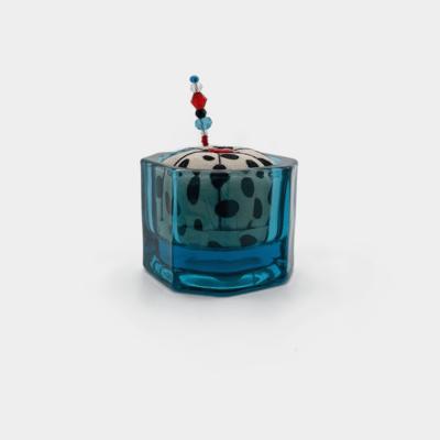 Blue Glass Pin Cushion