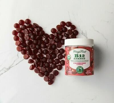 Megafood B12 Energy Cranberry Gummies 45serv