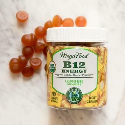 Megafood B12 Energy Ginger Gummies 45serv