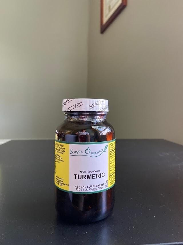 Simple Organics Turmeric 120cap