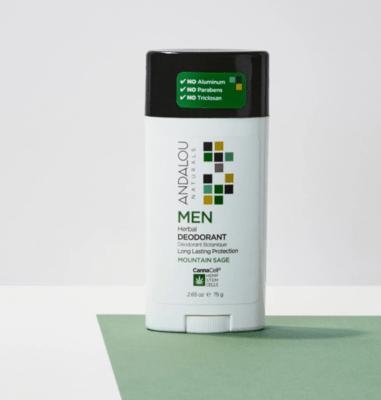 Andalou Men Deodorant Sage 2.65oz