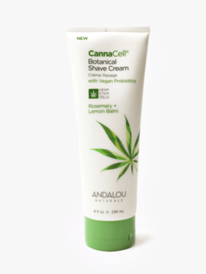 Andalou Cannacell Shave Cream Rosemary Lemon