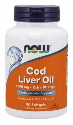 NOW Cod Liver Oil 1000mg 90sgel